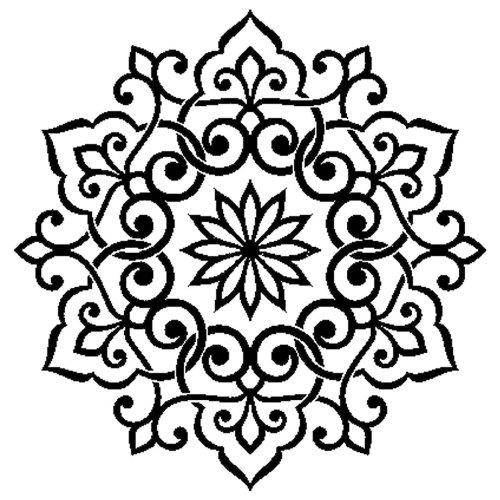 """Stamperia Stencil 7.08""""X7.08""""-Lace"""