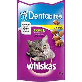 Whiskas C&t Dentabites Chicken 50g (Pack of 8)