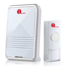 1byone Easy Chime Wireless Doorbell Door Chime Kit with CD Quality Sound White