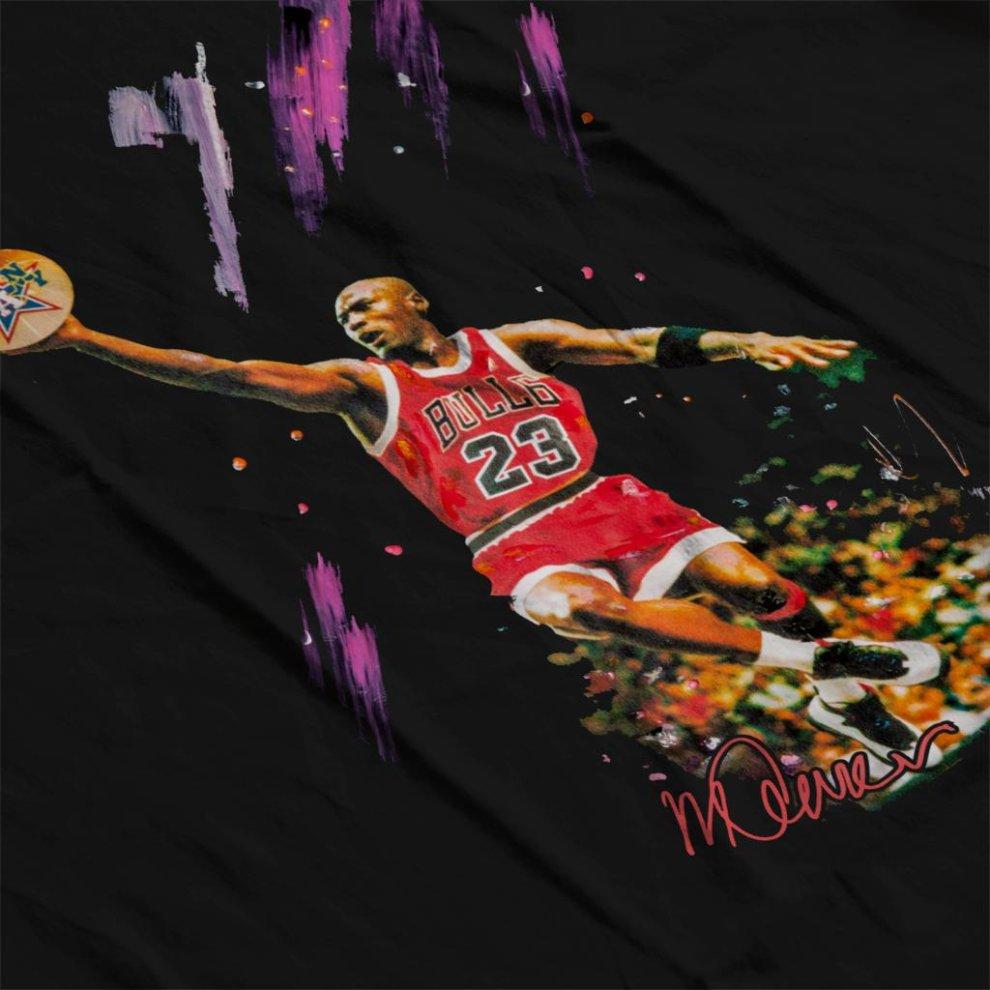 9413d7ce2a3d ... Sidney Maurer Original Portrait Of Bulls Star Michael Jordan Men s  Varsity Jacket - 4.