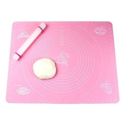 Non-stick Silicone Baking Mat Cookie Mat 53.5cm ×38.5cm Pink