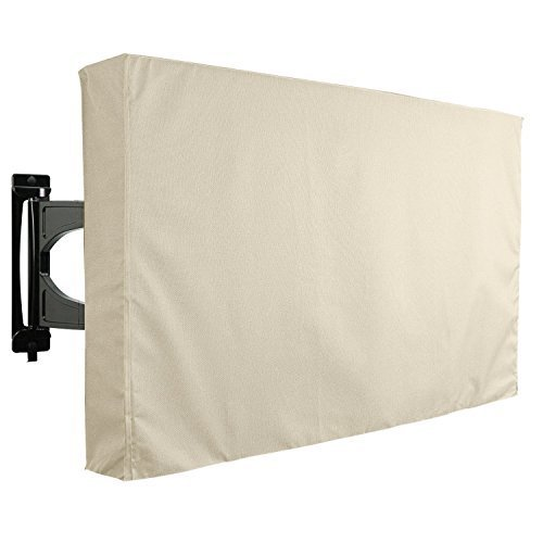 Outdoor TV Cover Sahara Series Universal Weatherproof Protector for 55 58 TV Fits Most Mounts Brackets