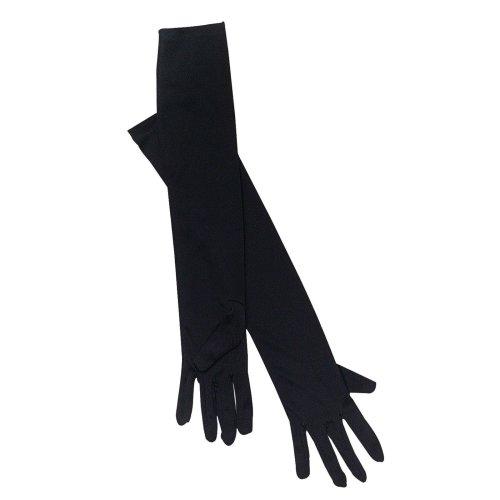 Long Black Satin Opera Gloves -  fancy dress gloves black opera long ladies flapper accessory 20s evening FANCY DRESS LADIES LONG BLACK GLOVES OPERA