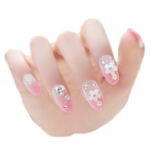 Nail Art Stickers Decor Nail Decorations Pink Gradient