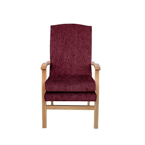 MAWCARE Deepdale Ortopaedic High Seat Chair - 19 x 20 Inches [Height x Width] in Darcy Bordeaux (lc48-Deepdale_d)