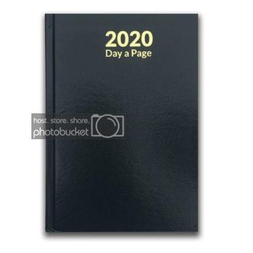 2020 Diary A5 Page a day or DAY a Page Diary Hardback DAP  (Sat & Sun - Full Page a DAY)