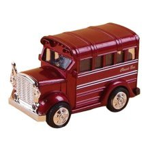 Children's Toys Mini Metal Car Model The Bus Model Car Toy Wine Red