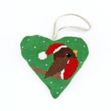 Robin Heart Christmas Decoration