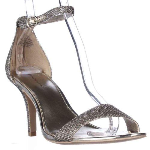 Bandolino Madia Ankle Strap Peep Toe Sandals, Gold, 8 UK