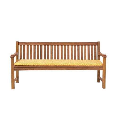 Garden Bench Cushion Yellow TOSCANA/JAVA