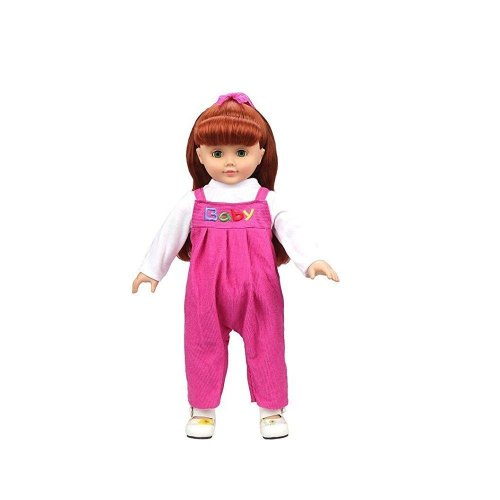 Highmall 16 Inches High Simulation Baby Dolls Clothes Rompers Suit Rose