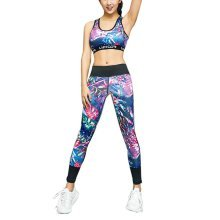 Beautiful Printing Sports Running Fitness Trousers Yoga Pants for Women, #05