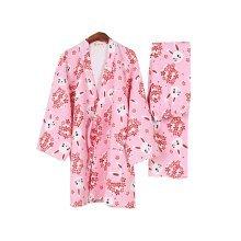 Cute Rabbit Women's Pajamas Suit Pajamas Cotton Pajamas Kimono Pajamas