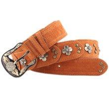 Women Fashion Belt Rivet Dress Decorative Belt Floral Belt [COFFEE]