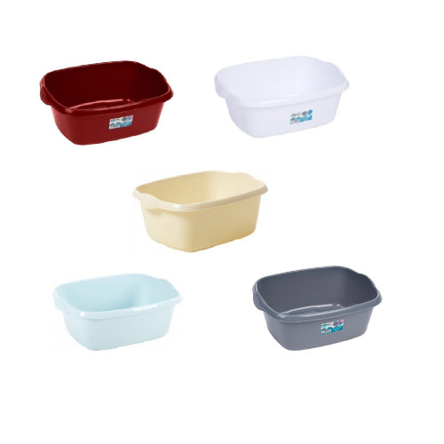 Wham Large Plastic Rectangular Bowl Washing Up Basin Bowls