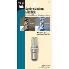 Dritz Sewing Machine LED Push-In Light Bulb-Clear W/Push-In Base