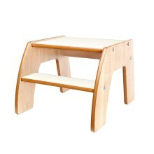Little Helper FunStep Child Safety Step Stool (Natural/White)