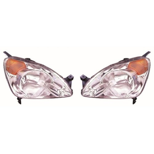 Honda Cr-v 2001-2003 Headlights Headlamps 1 Pair O/s & N/s