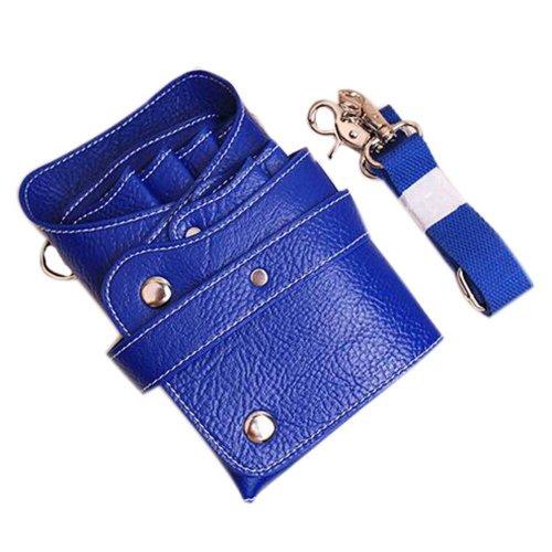 Hair Scissors Bag Hair Durable Comb Package Hair Stylist Pockets, Blue