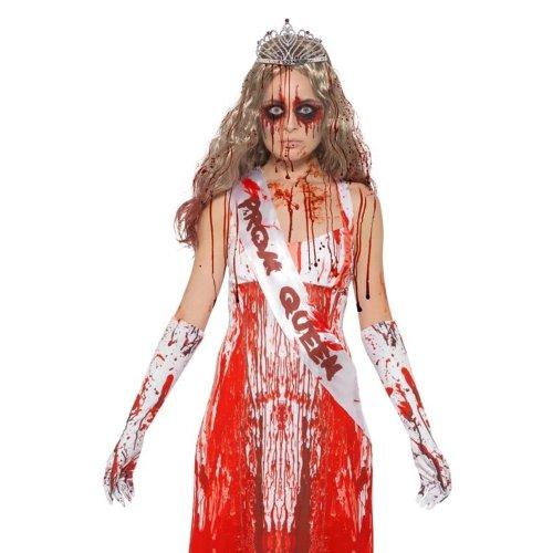 Bloody Prom Queen Kit, Carrie, Sash, Gloves & Tiara, Halloween Fancy Dress