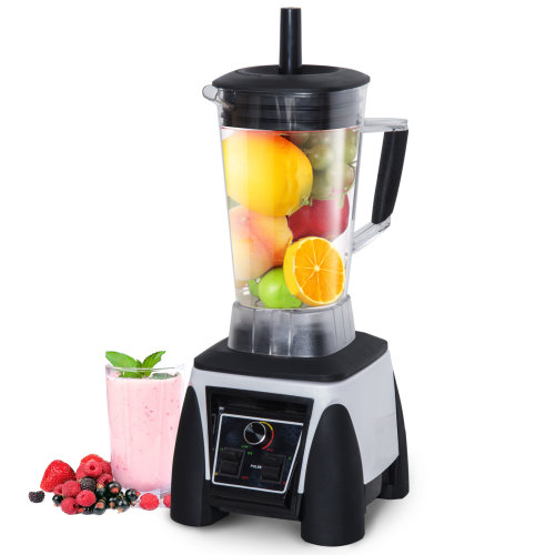 HOMCOM Commercial Blender Juice Smoothies Maker Powerful Food Processer with 3L Container Stainless Steel Blades BPA Free 1800W