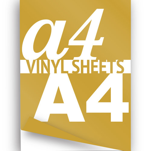 photo relating to Printable Vinyl identified as A4 Laser Printable Vinyl Sheets, Gold Self Adhesive