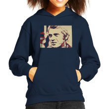 Steve McQueen London 1969 Poster Style Kid's Hooded Sweatshirt