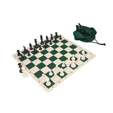 Wholesale Chess Triple Weighted Staunton Silicone Set - Green