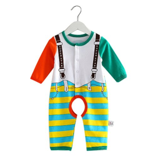 Baby Suit Clothing Long-Sleeved Cotton Baby Crawl Sports Open Fork Cotton H