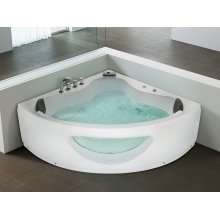 Corner Whirlpool -  Bathtub - Waterfall -  Colour Light  - TOCOA