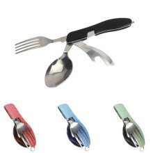 Multi-functional Portable Tools Camping Hiking Picnic Folding Cutlery Outdoor Camping Survival Set