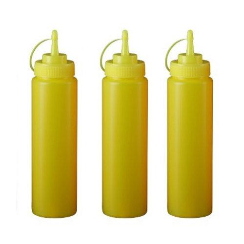 Sushi Salad Sauce Squeeze Bottle Ketchup Jam Squeeze Honey Bottles, Yellow