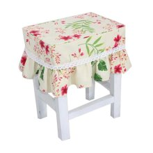 Lovely Canvas Stool Cover Makeup Stool Cover