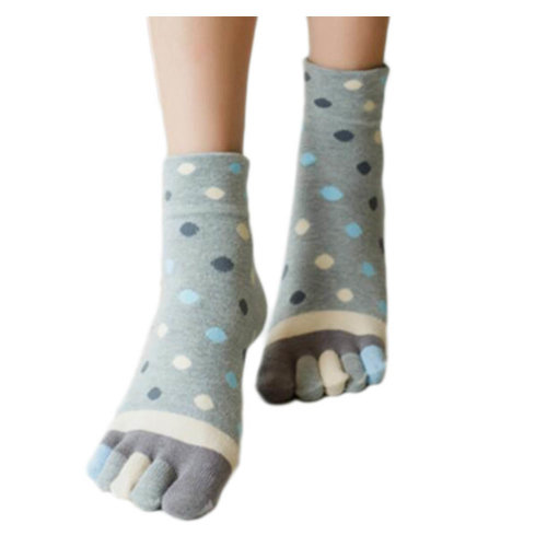 Tube Toe Socks Cotton Soft House Socks Cartoon Cute Socks-A10