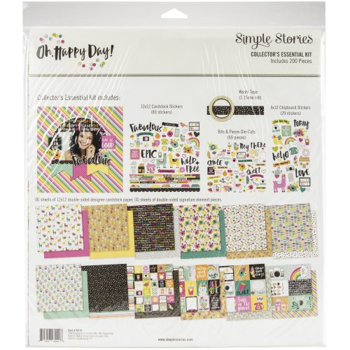 """Simple Stories Collector's Essential Kit 12""""X12""""-Oh Happy Day"""