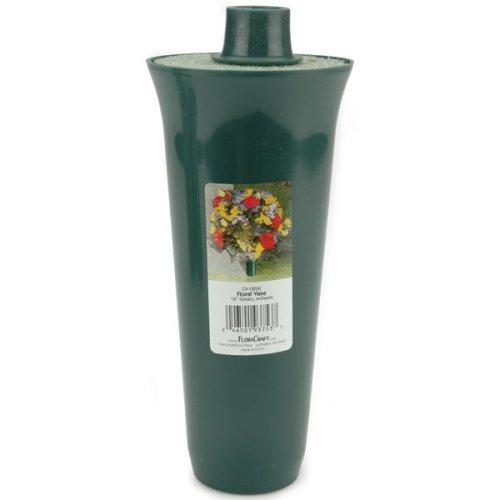 """Floral Vase W/Styrofoam Insert-12""""X4"""""""