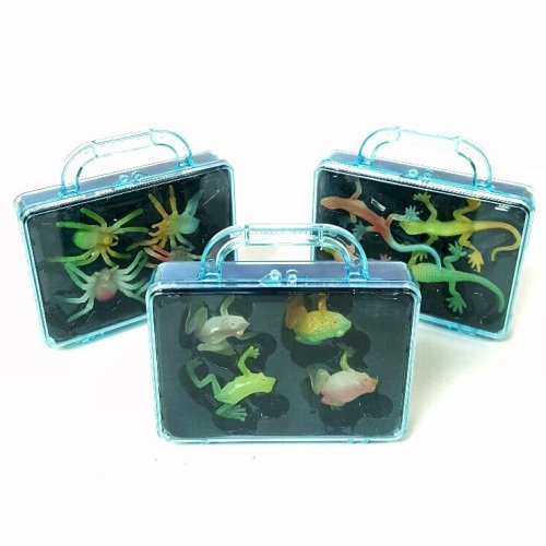 12 Glow in the Dark Toys including Frogs, Lizards and Spiders