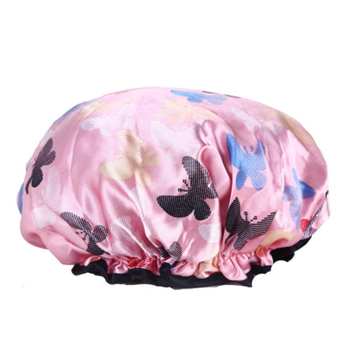 2PCS Shower Cap,Bath Cap-Elastic Band,Extra Large,Won't Fall Off Your Head Designed for Women#Q