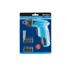 Bluespot 4.8v Rechargeable Battery Cordless Screwdriver Drill With Bit Set 12066