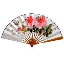 Oriental Style Folding Fan Hand Fan Handfan Handheld Fan Perfect Gift, T