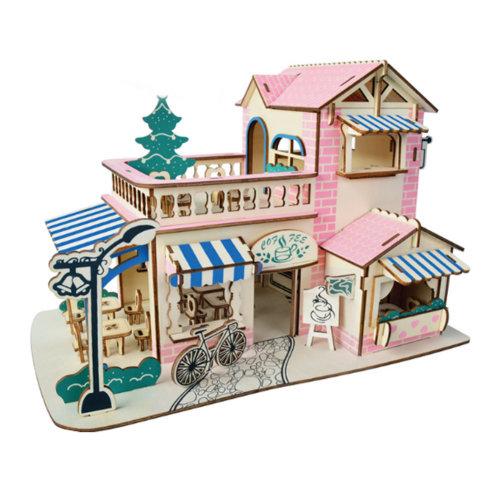 3D Wooden Puzzle Architecture Building Educational Toys DIY Toys #1