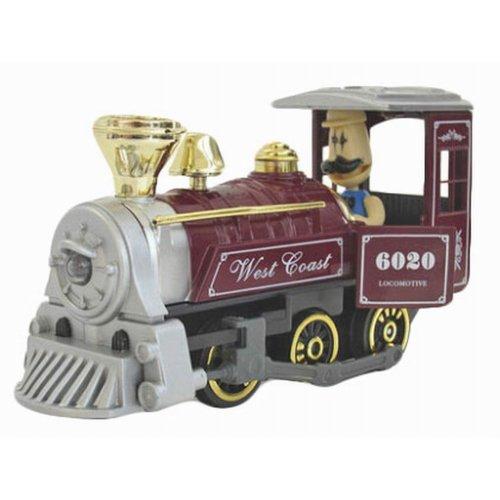 Simulation Locomotive Toy Model Trains Steam Train, Dark Red (15*5*17CM)