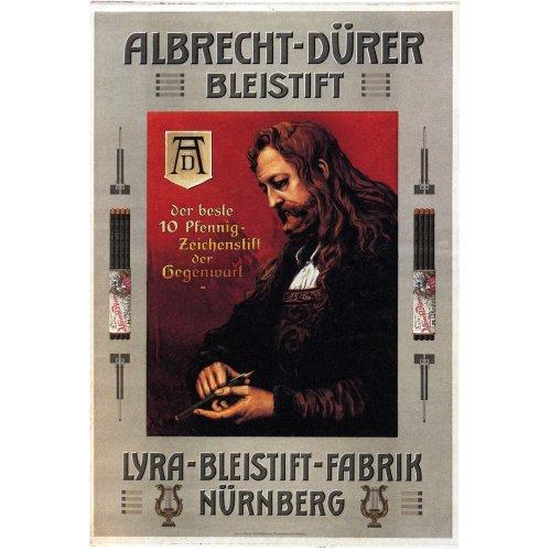 Advertising poster - Albrecht Durer Bleistift - High definition printing on stainless steel plate