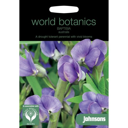 Johnsons World Botanics Flower - Pictorial Pack - Baptisia australis - 10 Seeds