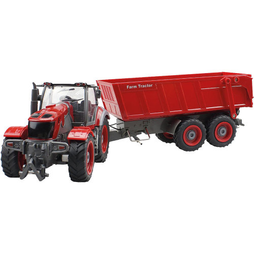 Radio Control Fully Operable Farm Tractor with trailer  1:28 Scale