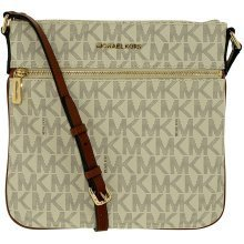 Michael Kors Bedford Flat Cross Body Bag - Vanilla - 32H5GBFC2V-150