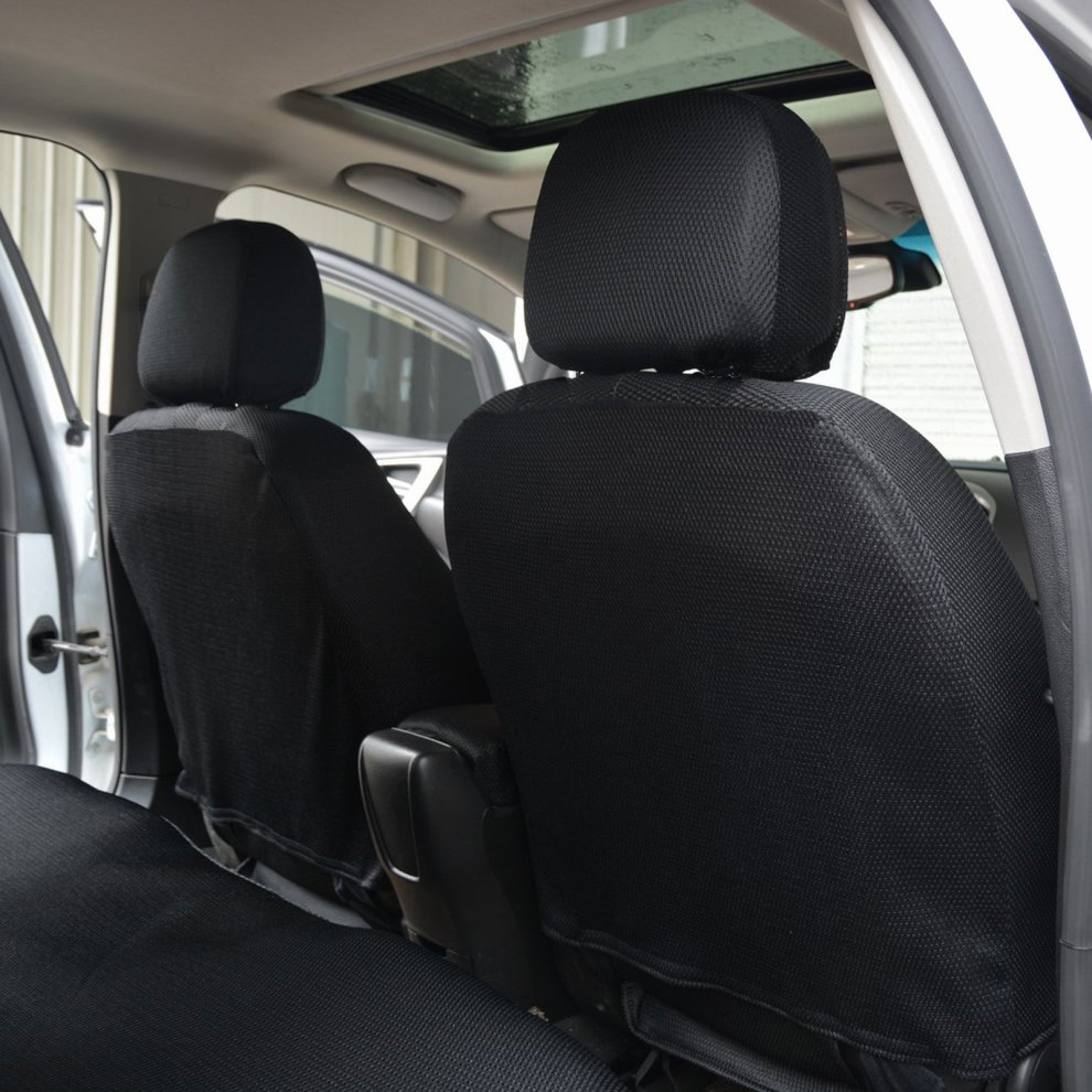 Woltu Car Seat Covers Black Full Set 5 Seaters Front Rear Universial For Cars