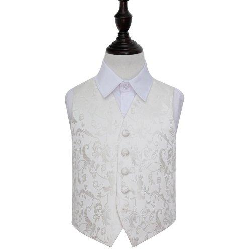 Ivory Floral Wedding Waistcoat for Boys 26'