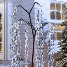 (White, 6ft/480 LED) Christmas Willow Tree | Indoor & Outdoor LED Tree