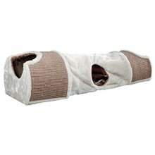 Trixie Scratching Tunnel For Cat, 110 x 30 x 38 Cm, Light Grey/brown - Catcm -  trixie scratching tunnel cat 110 cm light greybrown 30 38